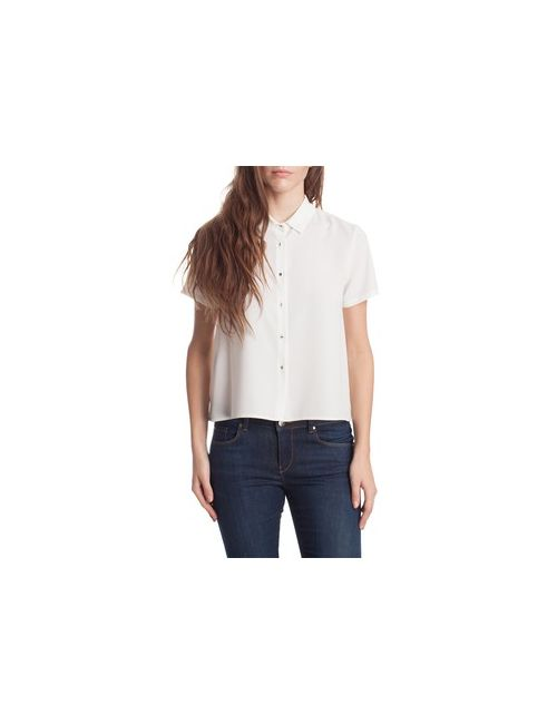 MOTIVI | Женская Коричневая Асимметричная Короткая Блузка