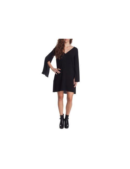 MOTIVI | Женское Коричневое Платье С Открытыми Рукавами