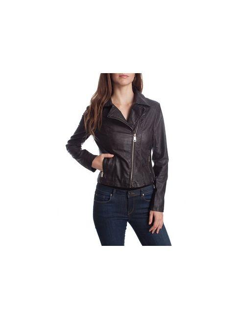 MOTIVI | Женская Чёрная Куртка Из Искусственной Кожи С Непрокрашенным Эффектом