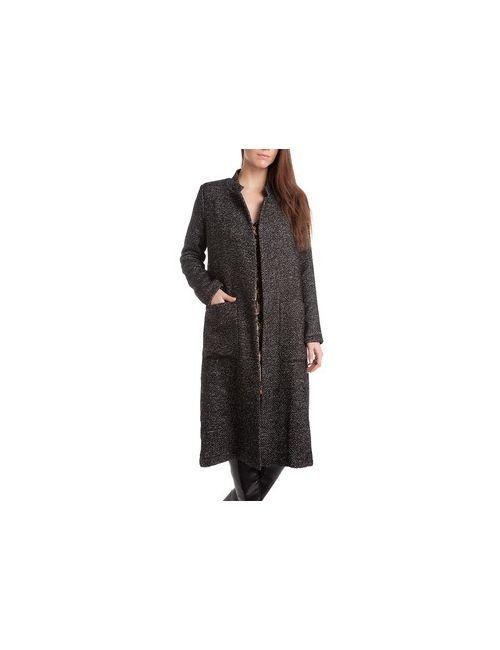 MOTIVI | Женское Черный Длинное Пальто Без Застежки
