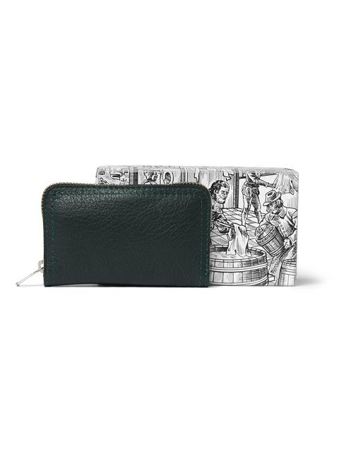 D R Harris | Emerald Grained Leather-Bound Manicure Set