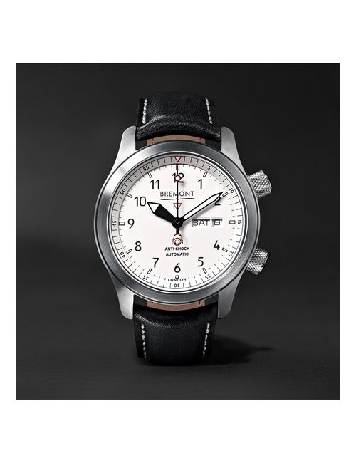 Bremont | Белый Martin Baker Ii Stainless Steel And Leather