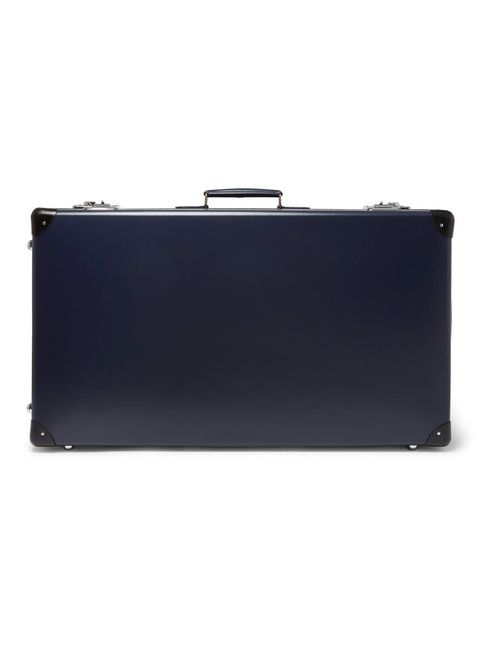 Globe-Trotter | Navy 30 Leather-Trimmed Suitcase