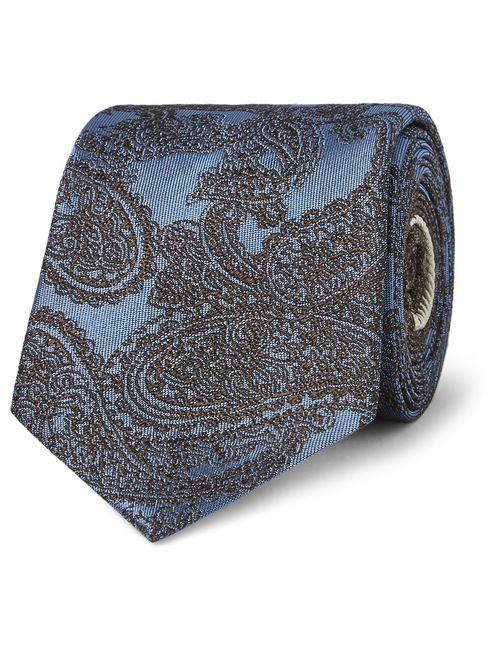 Dries Van Noten | Paisley-Patterned Silk-Jacquard Tie Blue