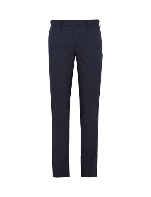 Incotex | Slim-Fit Stretch-Cotton Trousers Blue