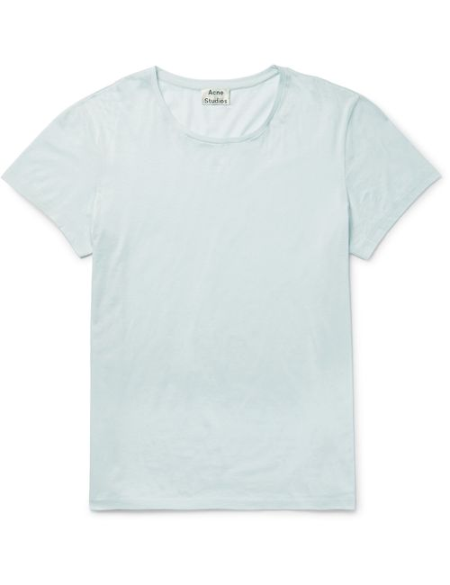 Acne | Мужское Standard O Mercerised Cotton-Jersey T-Shirt Blue