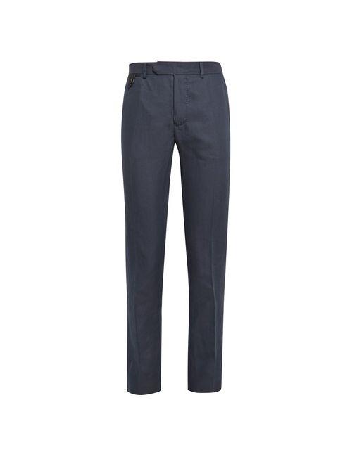 BERLUTI | Синий Cotton Linen And Silk-Blend Trousers