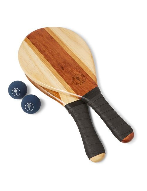 FRESCOBOL CARIOCA | Чёрный Wooden Beach Bat And Ball Set