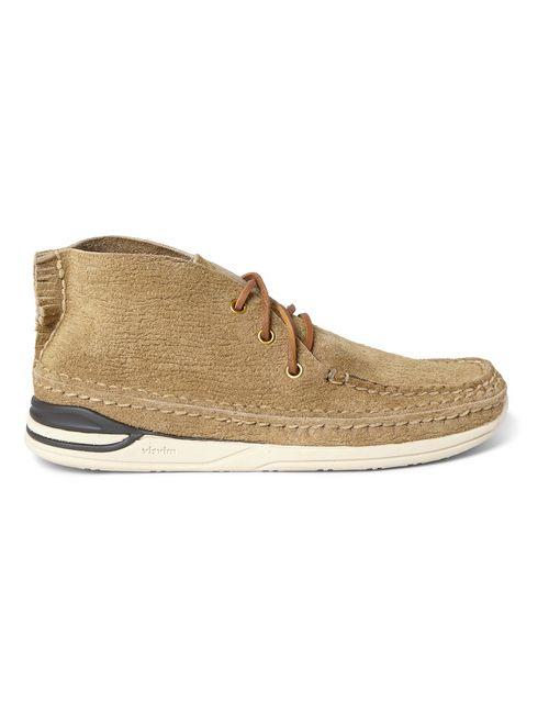 Visvim   Бежевый Voyageur Moc-Folk Distressed Suede Sneakers