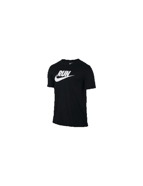 Nike | Мужская Мужская Футболка Для Бега Run Swoosh