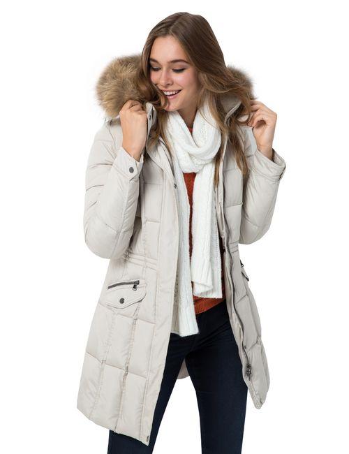 OSTIN   Женское Пальто С Опушкой Из Натурального Меха