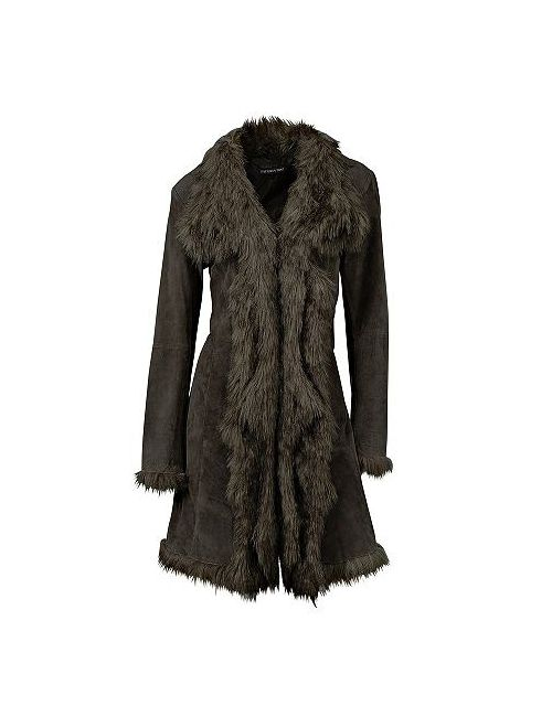 Patrizia Dini | Женское Кожаное Пальто Из Свиной Замши
