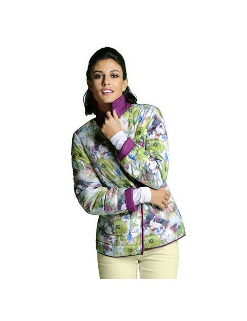 ALBA MODA GREEN | Женская Двусторонняя Стёганая Куртка
