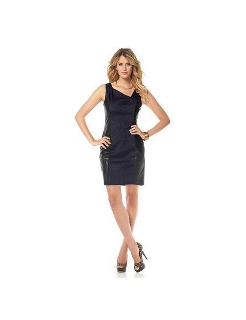 Marc New York | Женское Платье С Отделкой Искусственной Кожей
