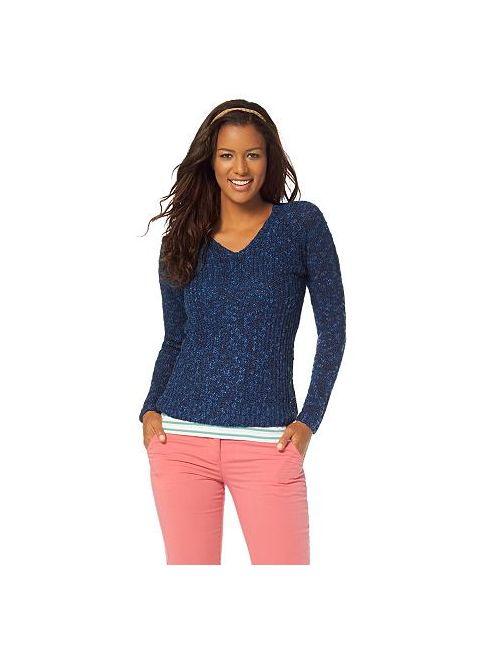 FLG FLASHLIGHTS | Женское Flashlights Пуловер С V-Образным Вырезом