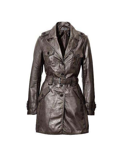 Ashley Brooke | Женское Кожаное Пальто