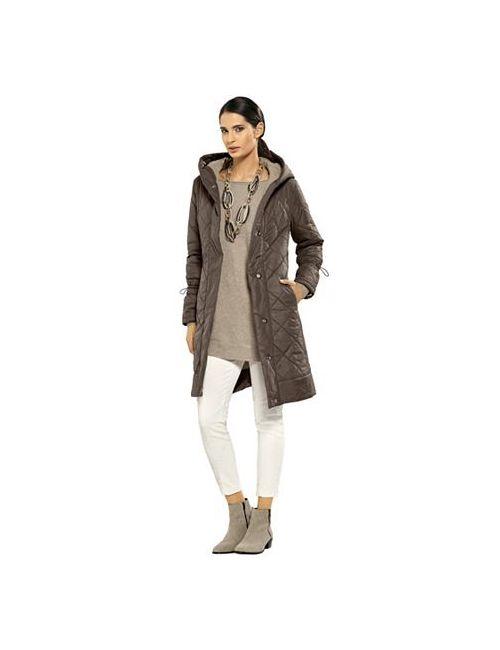 ALBA MODA WHITE | Женское Стёганое Пальто
