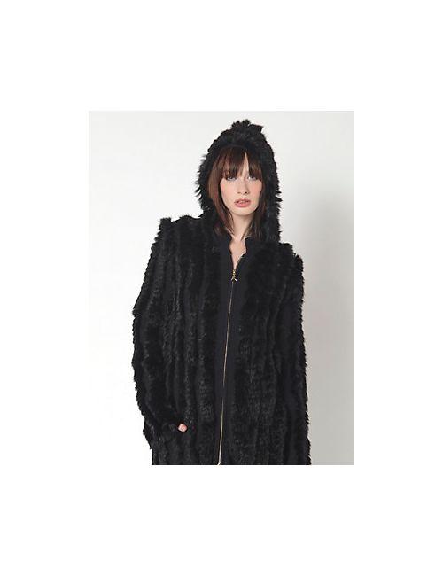 Patrizia Pepe | Женское Пальто Макрокардиган С Капюшоном Из Шерстяного Трикотажа