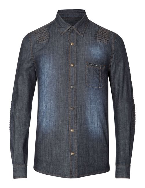 Philipp Plein | Синий Denim Shirt Dig Deep