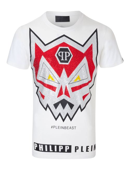 Philipp Plein | Белый T-Shirt Angry Monster