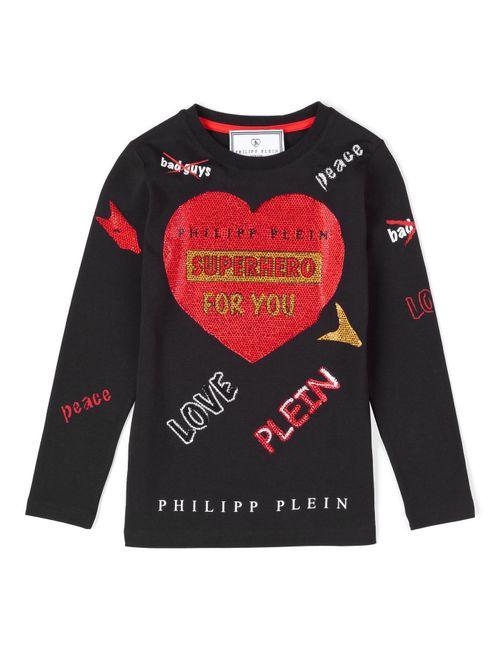 Philipp Plein | Чёрный T-Shirt Long Sleeves For You