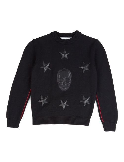 Philipp Plein | Чёрный Pullover Give Me Force
