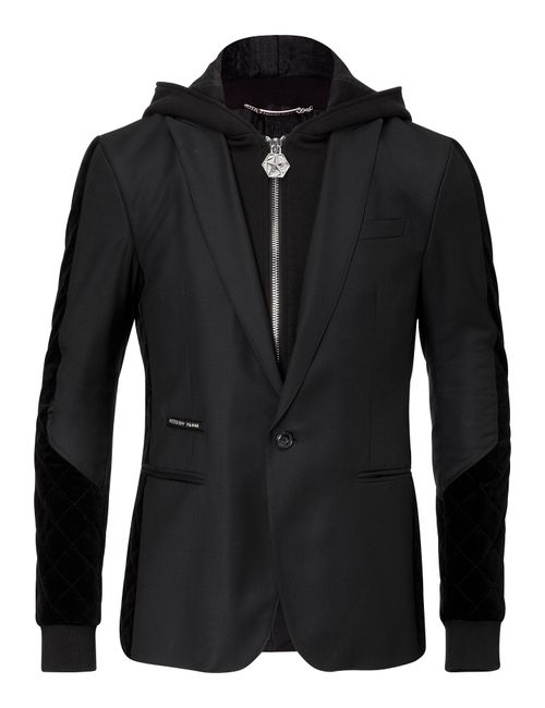 Philipp Plein | Черный Hooded Blazer Festivity