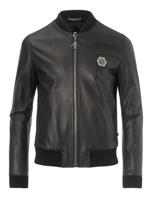 Philipp Plein | Чёрный Leather Jacket Castlegar
