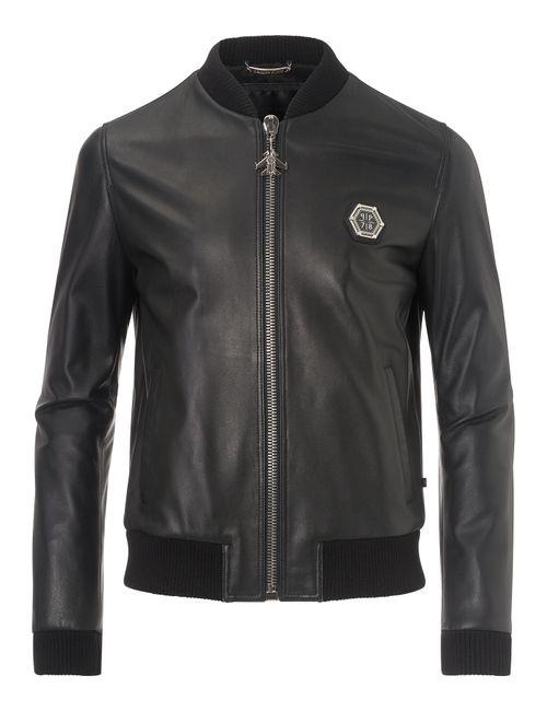 Philipp Plein | Чёрный Leather Jacket Castlegar