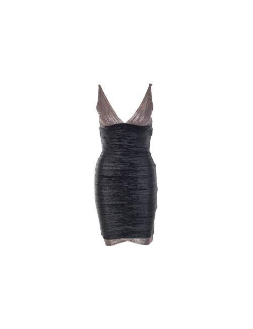 Hervé Léger | Женское Чёрное Платье Herve Leger