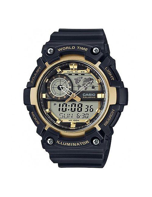 Casio | Мужские Жёлтые Электронные Часы Collection Aeq-200w-9a
