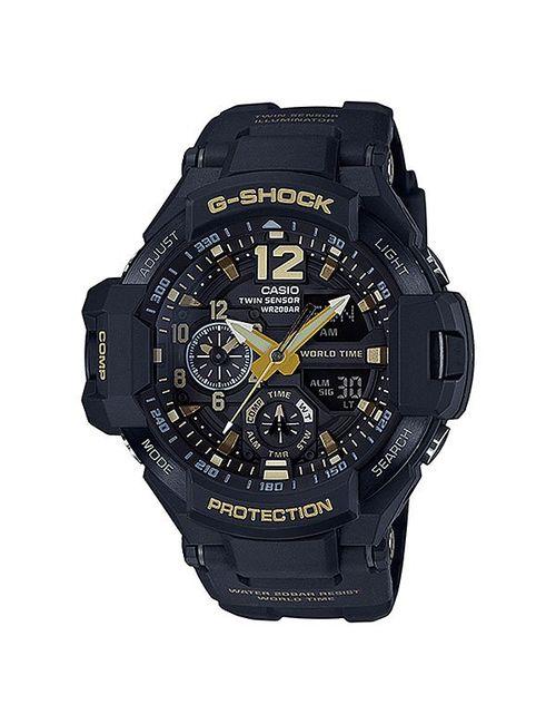 Casio   Мужские Чёрные Электронные Часы G-Shock Premium Ga-1100gb-1a