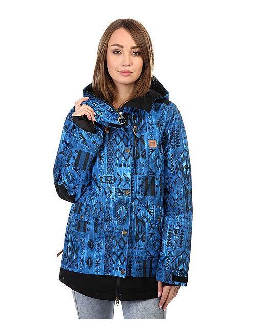 Dcshoes | Женская Синяя Куртка Dc Riji Tribal