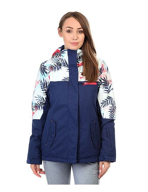 Roxy | Женская Синяя Куртка Rx Jetty Blo Botanik Bright