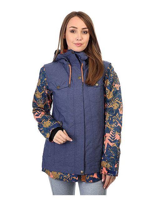 Roxy | Женская Синяя Куртка Женская Ceder Print