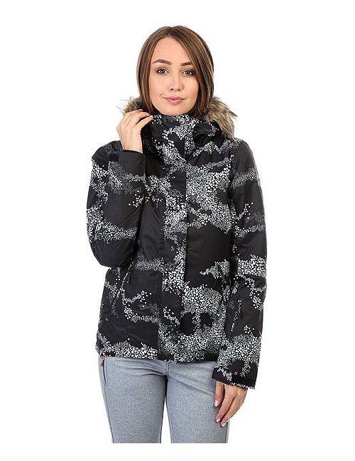 Roxy   Женская Чёрная Куртка Jet Ski Cloudofdots True Bla