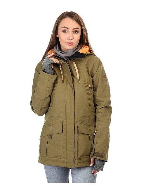 Roxy | Женская Зелёная Куртка Tribe Military Olive
