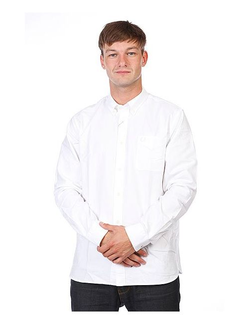Fred Perry | Мужская Белая Рубашка Classic Oxford Shirt White