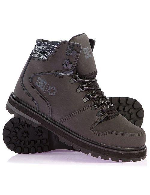 Dcshoes | Мужские Серые Ботинки Dc Peary Spt Black/Organge