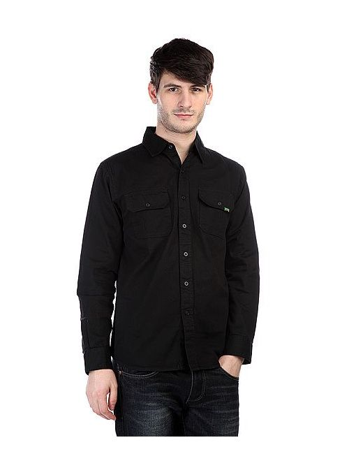 Creature   Мужская Чёрная Рубашка Coroner Black