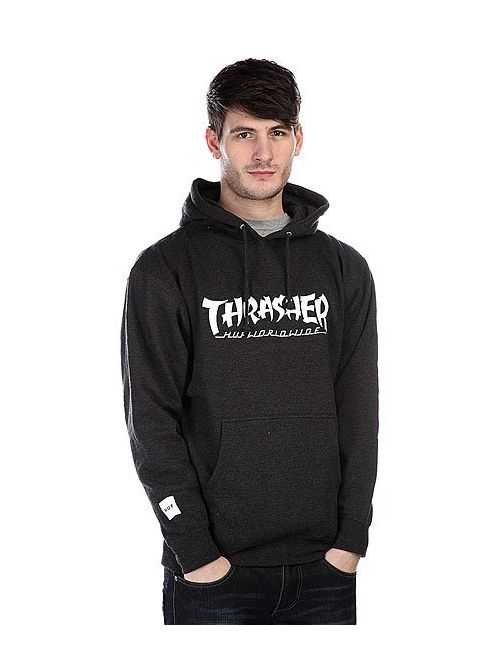 Huf | Мужская Серая Толстовка X Thrasher Asia Tour Pullover Hoodie