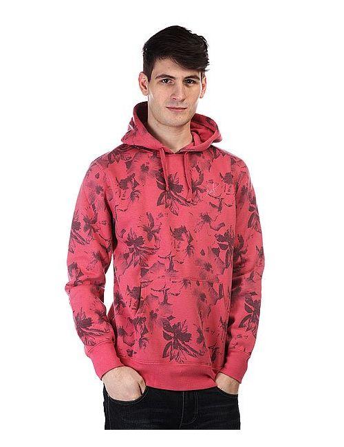 Huf | Мужской Розовый Кенгуру Floral Pullover Hood Salmon Floral