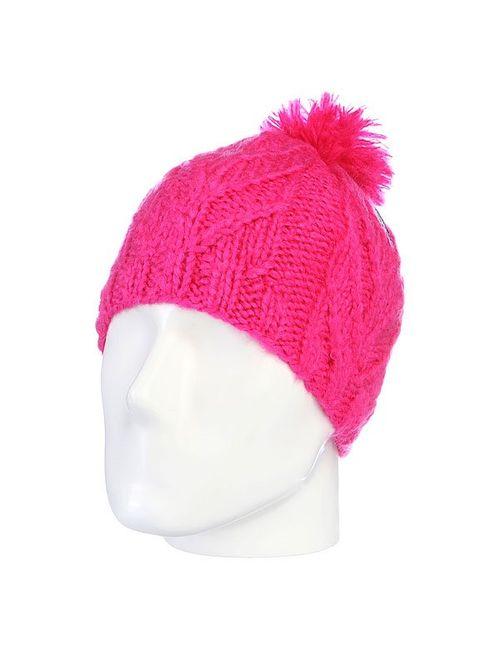 Volcom | Женская Розовая Шапка С Помпоном Женская Leaf Beanie Pink