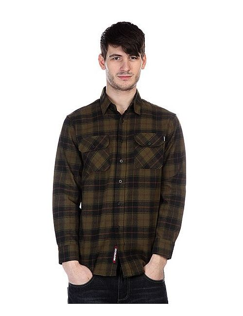 Independent | Мужская Черный Рубашка В Клетку Regulate Green/Black
