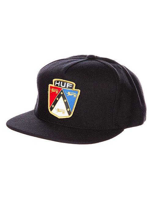 Huf | Мужская Чёрная Бейсболка Badge Snapback Black