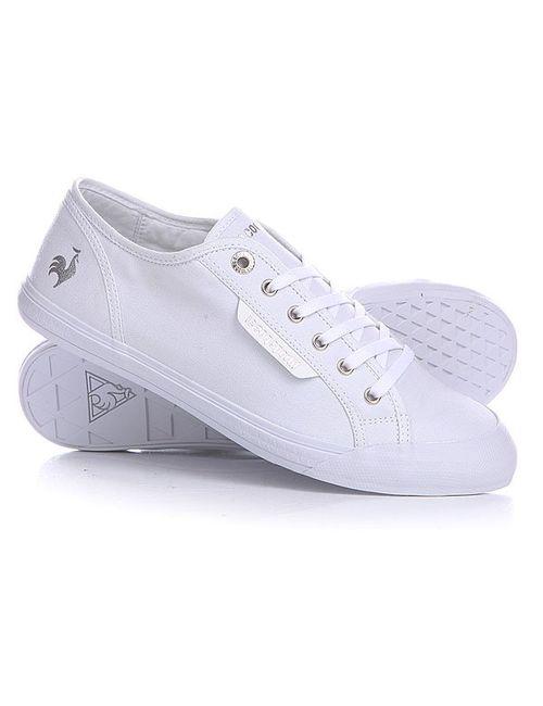 Le Coq Sportif | Мужские Белые Кеды Кроссовки Deauville Plus White/Silver