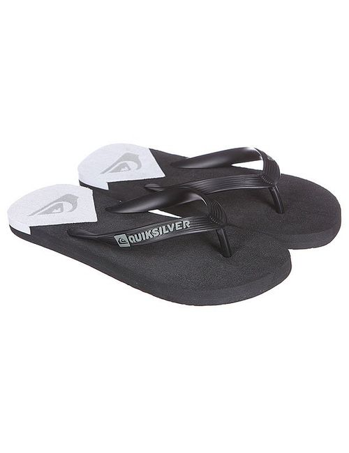Quiksilver | Мужские Чёрные Шлепанцы Molokai New Wav Black/White