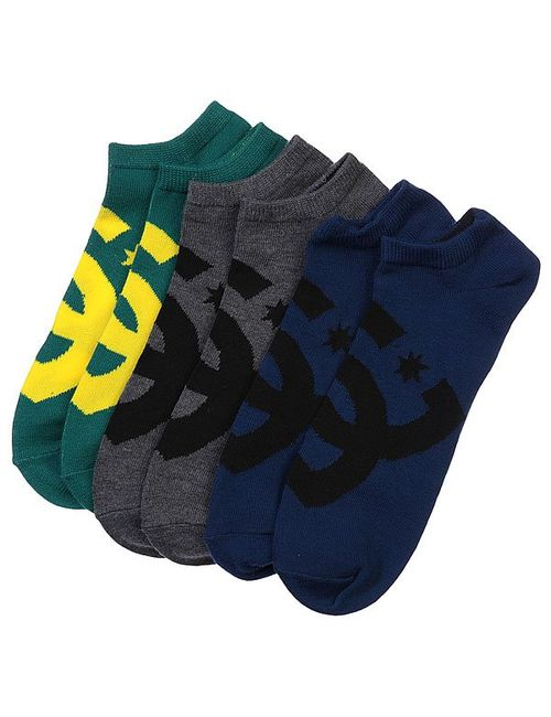 Dcshoes   Мужские Жёлтые Носки Низкие Dc 3pk Essential Sport Ns