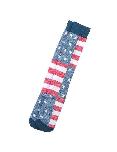 Quiksilver | Мужские Синие Носки Высокие 1pr Frontbrded Knit American C