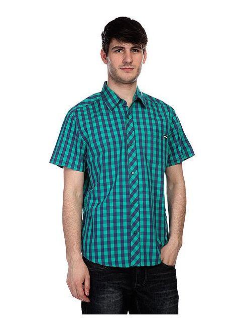 Globe   Мужская Фиолетовая Рубашка В Клетку Bardo Ss Shirt Green/Purple